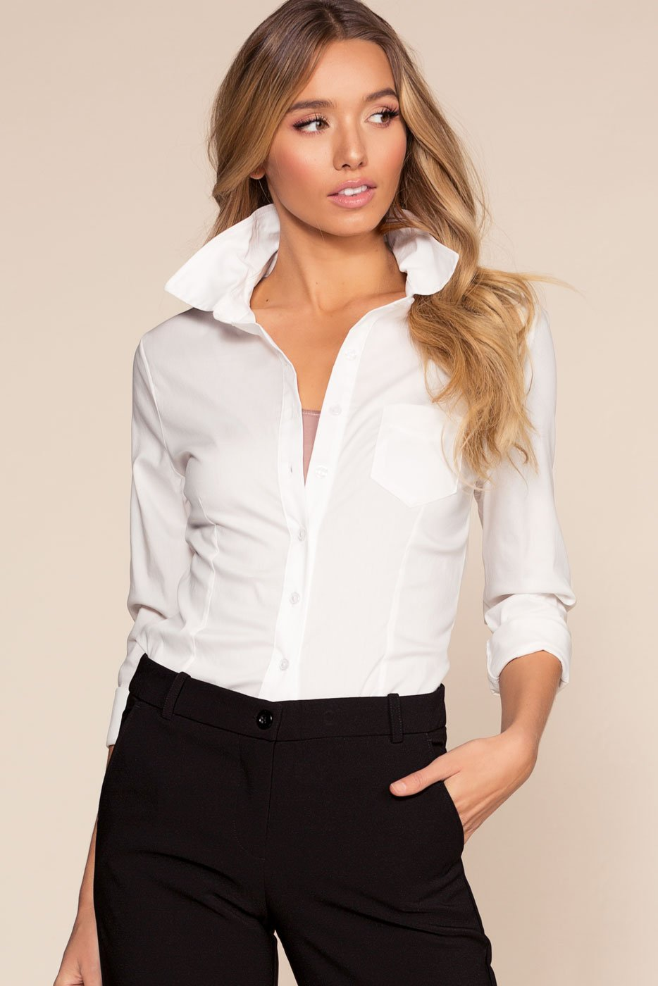 Tops - Clean Chic Top - White