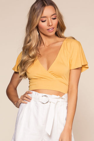 Crisscross Crop Top - Honey