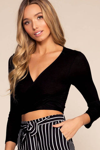 On My Way To Rio Off The Shoulder Stripe Crop Top - Navy