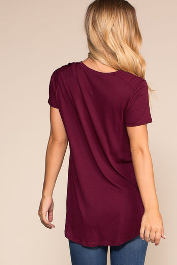 Tops - Easy Goes It Top - Burgundy