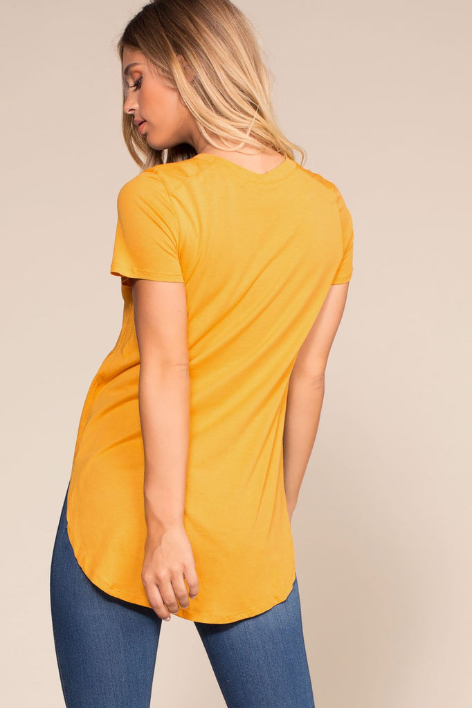 Tops - Easy Goes It Top - Mustard