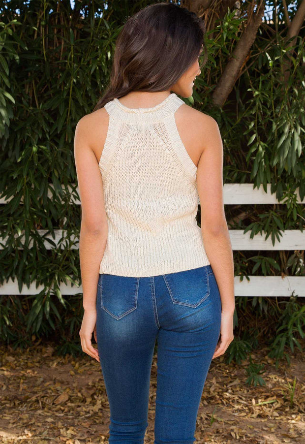 Tops - Elison Knit Top - Ivory