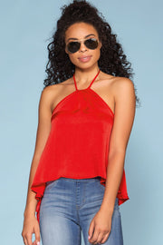 Red Halter Top