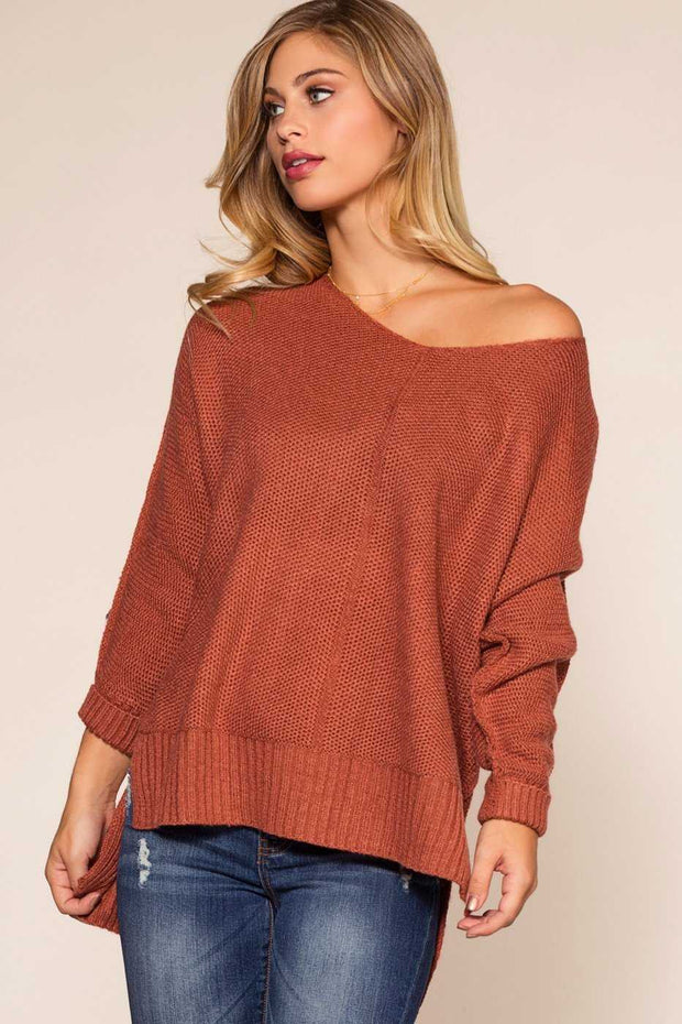 Tops - Ethel Sweater - Brick