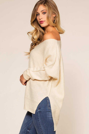Tops - Ethel Sweater - Ivory