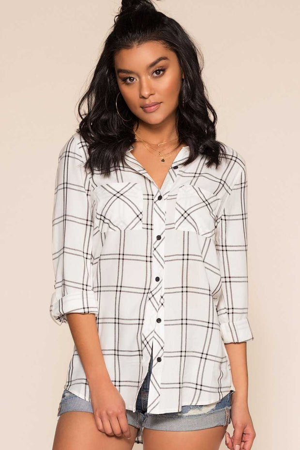Tops - Farrah Plaid Top