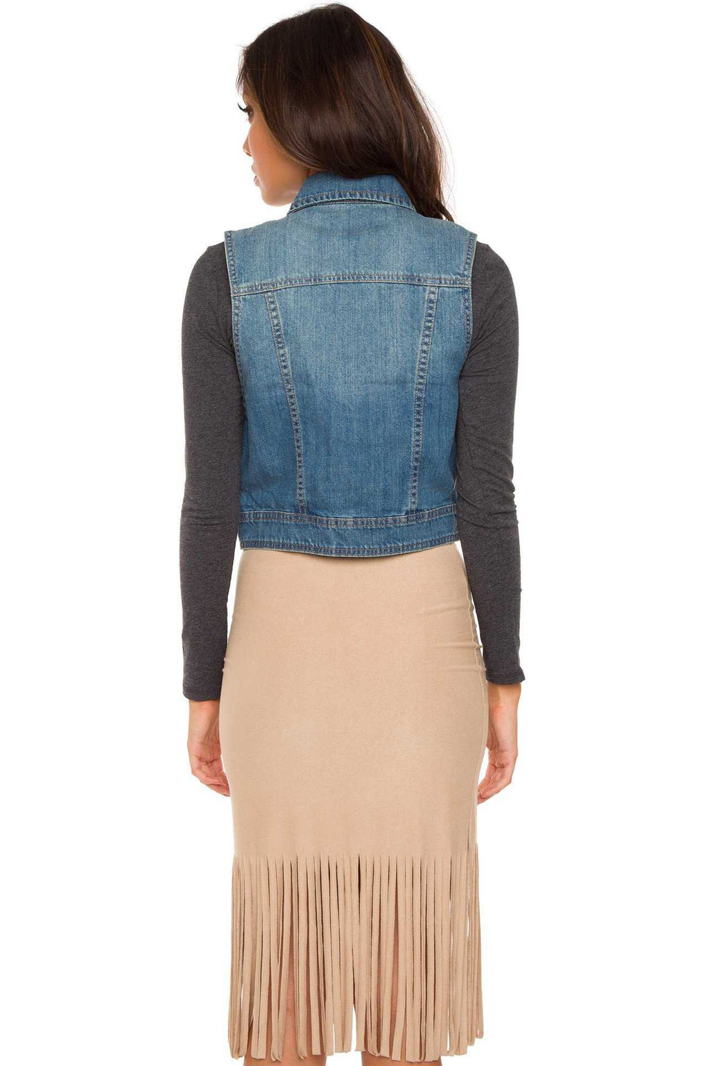 Tops - Free And Easy Denim Vest