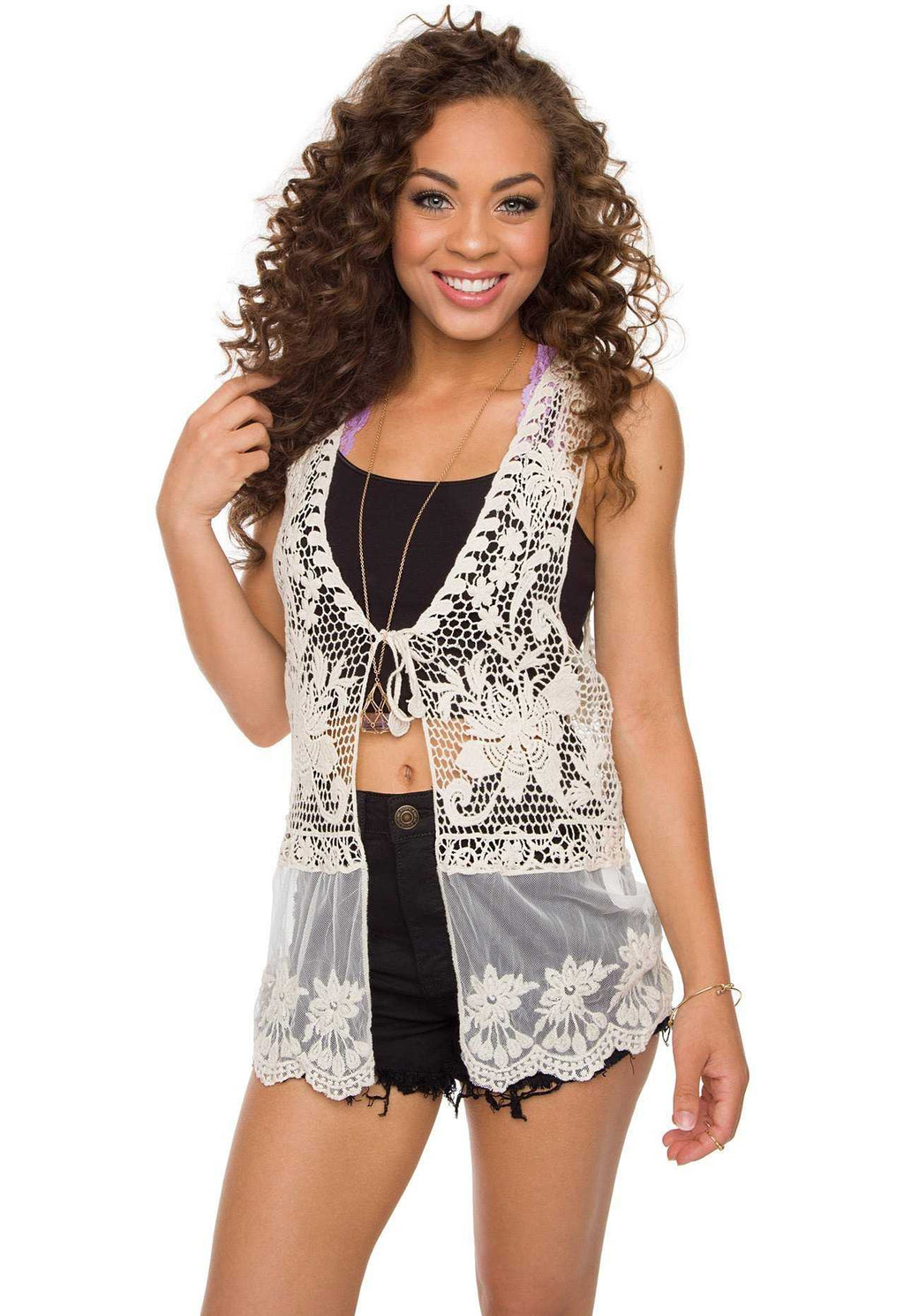Tops - Free Bird Crochet Vest