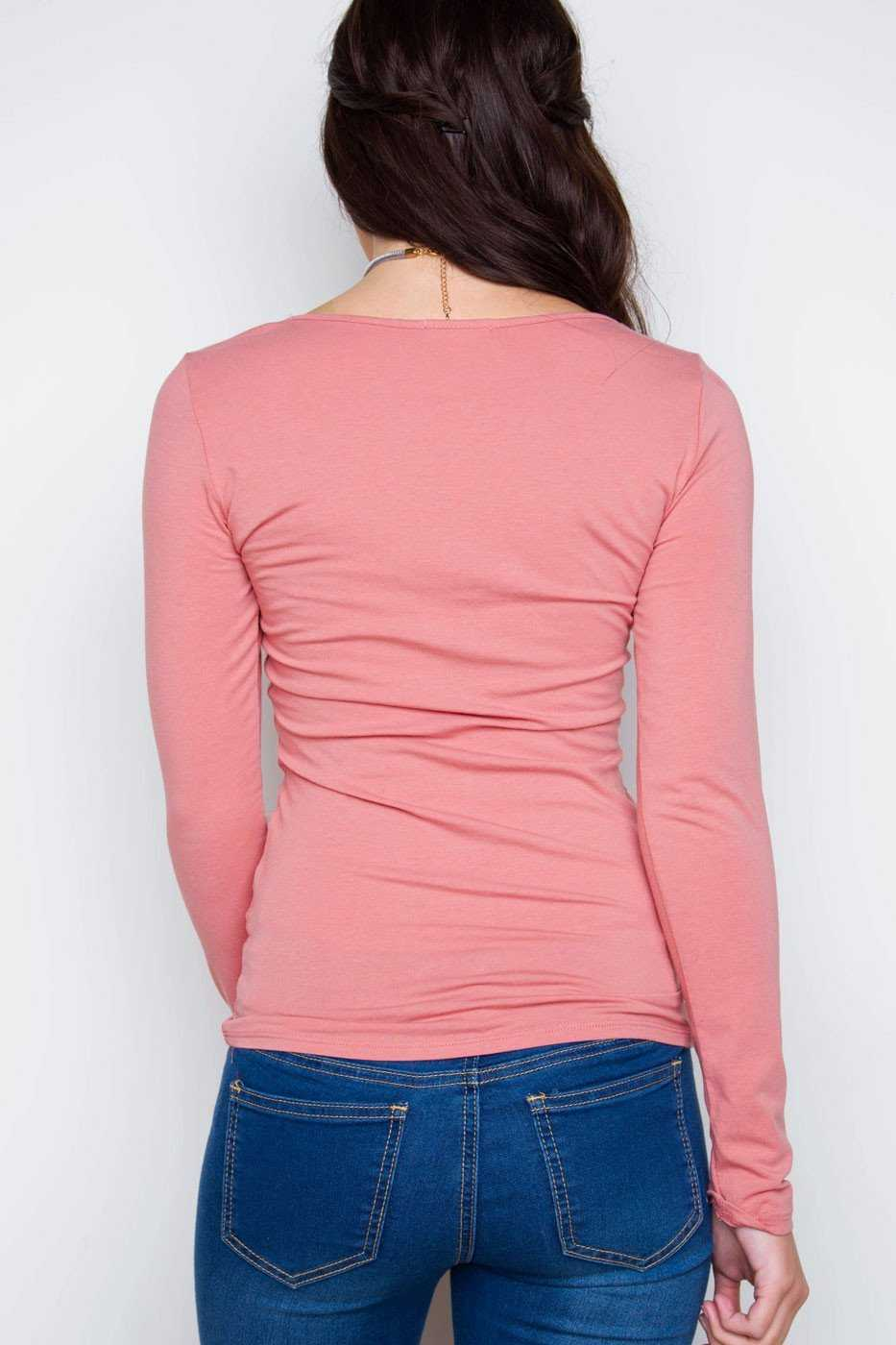 Tops - From The Heart Crisscross Top - Dusty Mauve