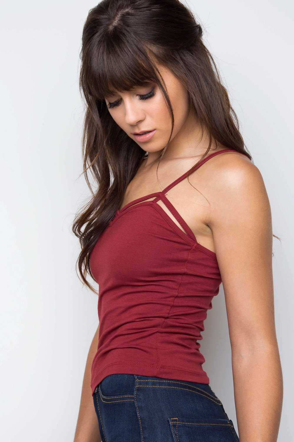 Tops - Genie Crop Top - Burgundy