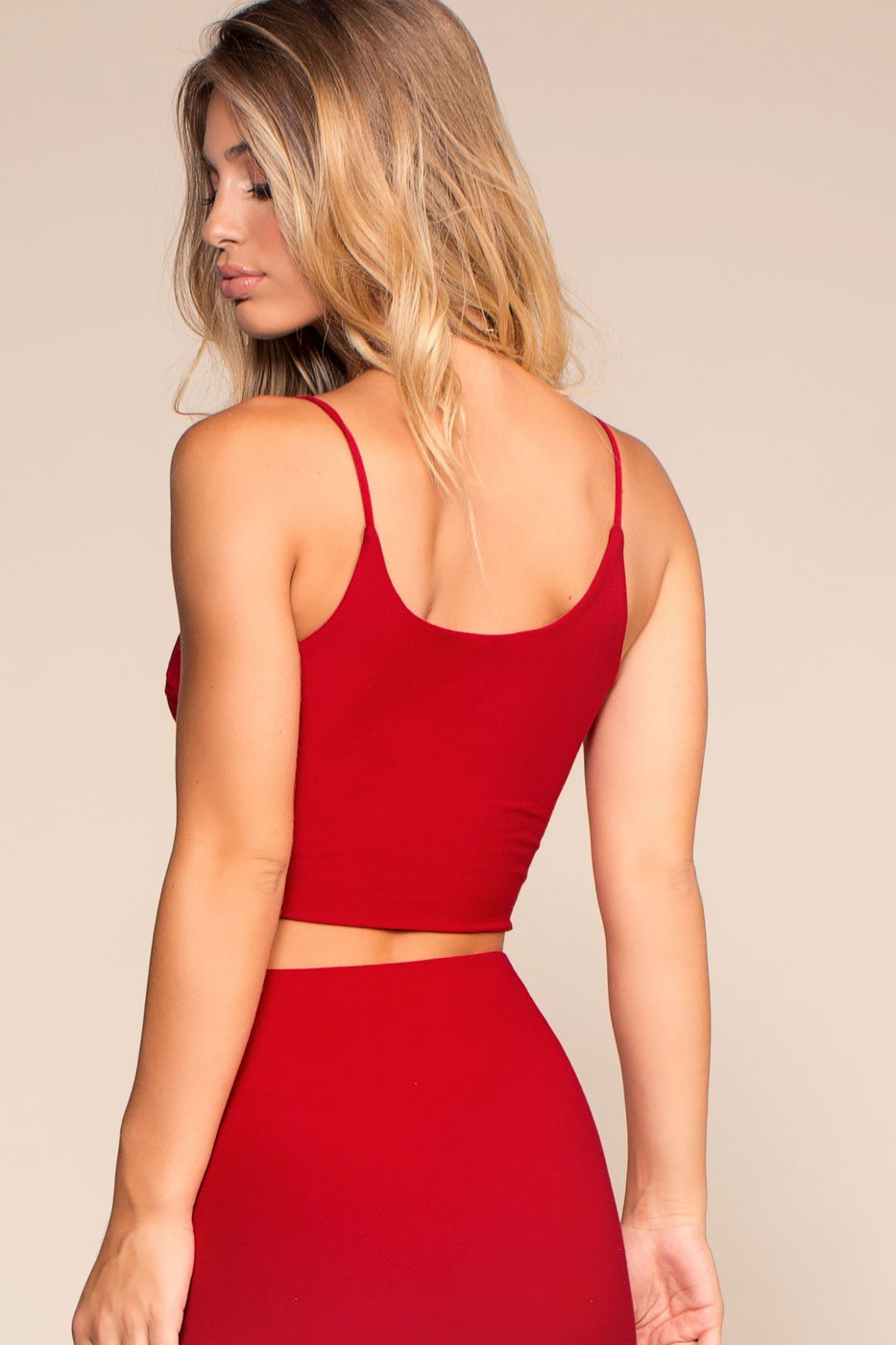 Tops - High Life Crop Tank Top - Red