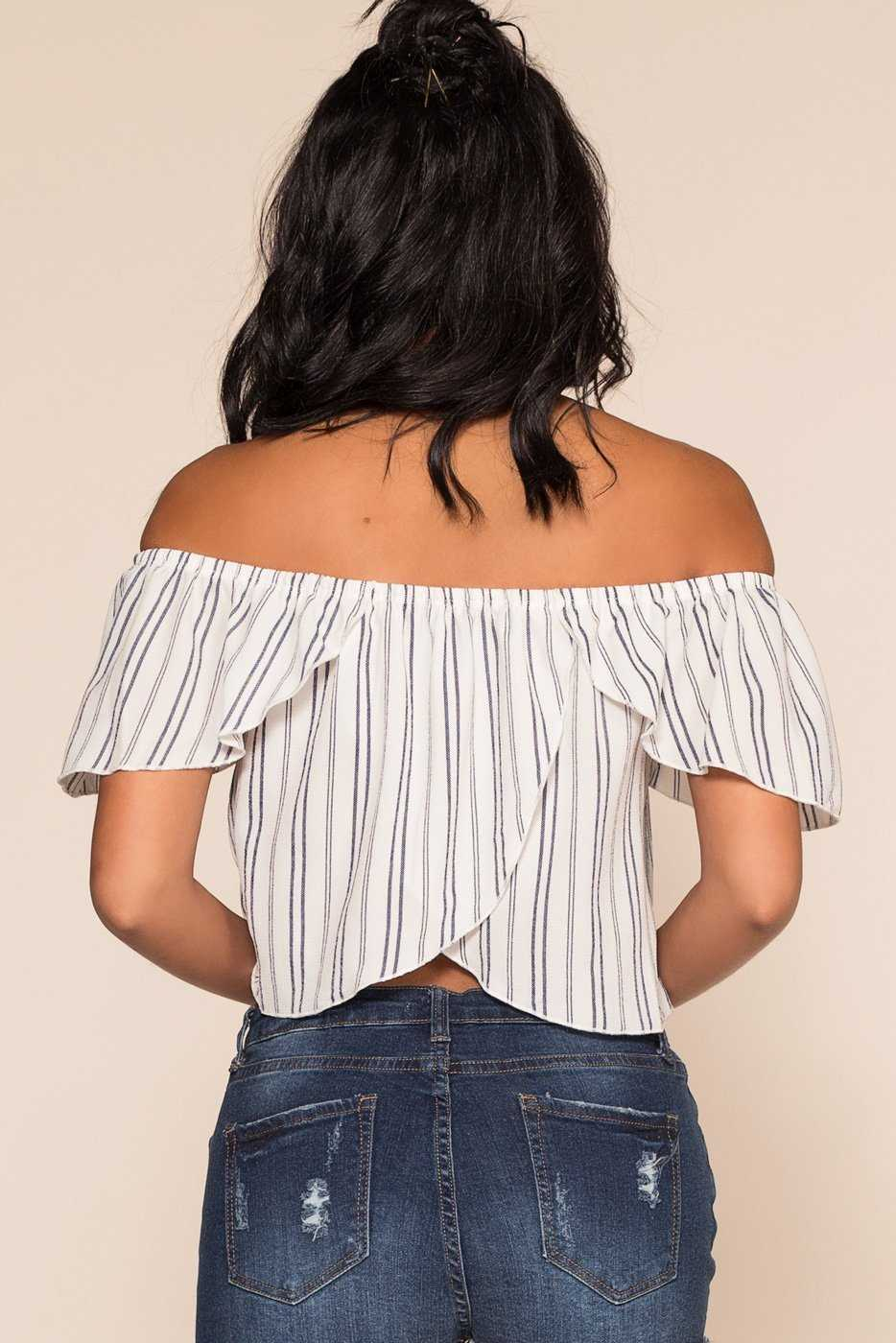 133cbf72ea7bf ... Tops - I Dare You Off The Shoulder Top - White ...