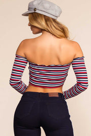 Tops - I Stripe You Not Top - Blue