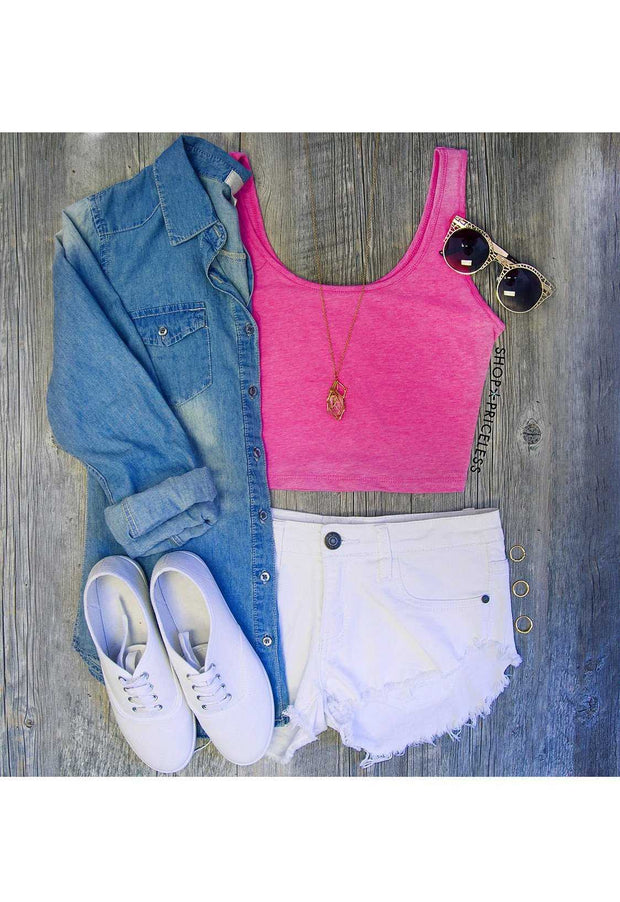 Light Pink Crop Tank Top