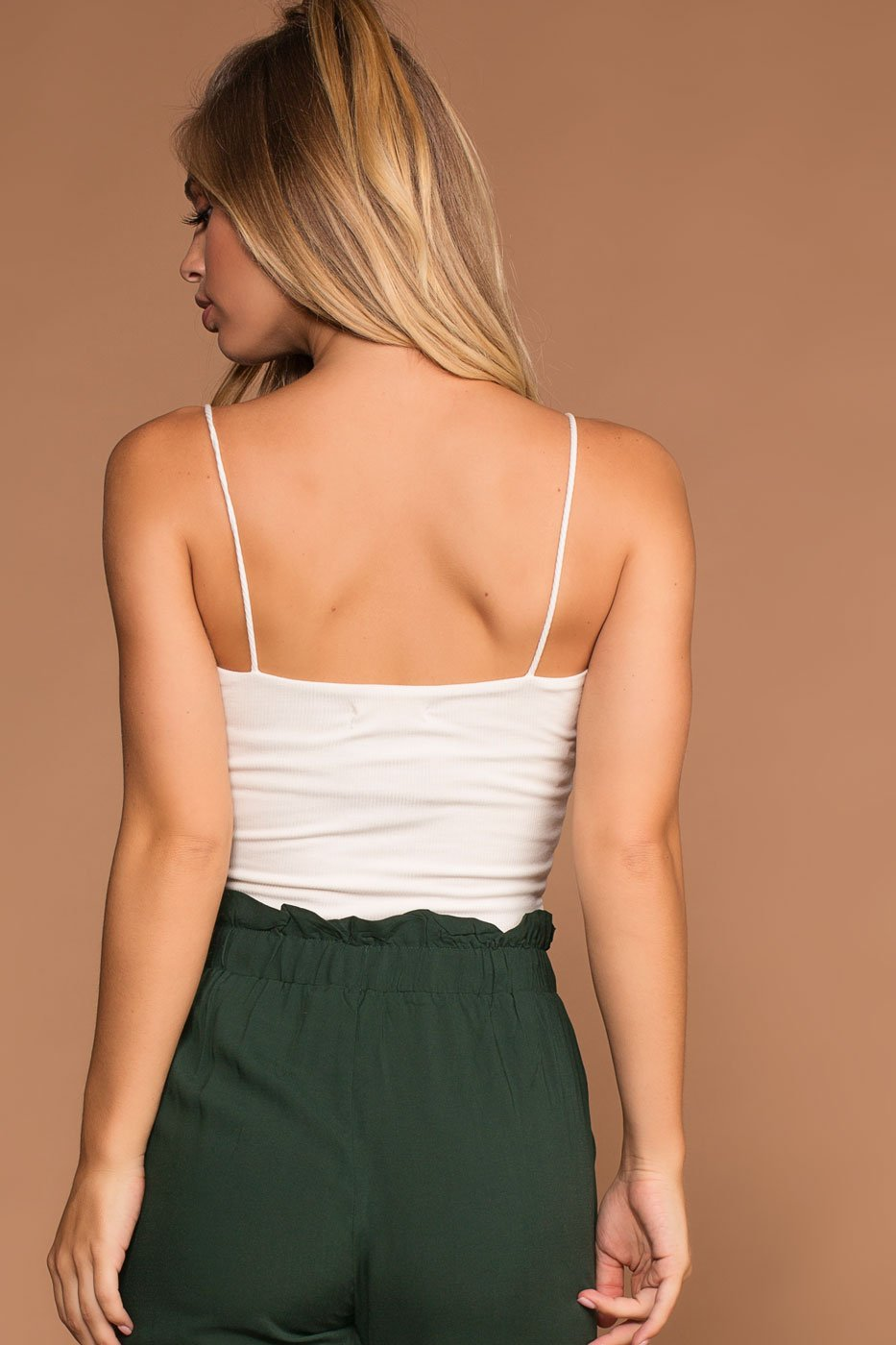 Tops - Jen Square Crop Top - White