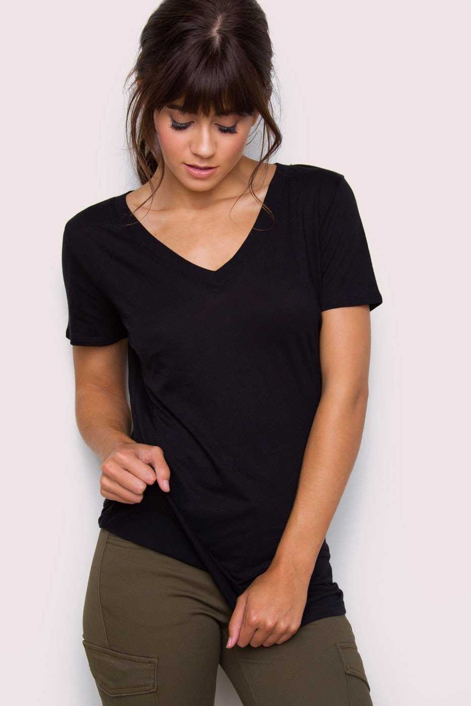 Tops - Jenna Basic Top - Black