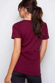 Tops - Jenna Basic Top - Burgundy