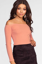 Tops - Just Right Off The Shoulder Top - Mauve