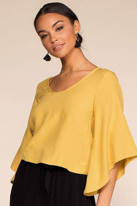 Kalahari Back Bow Top - Honey | favlux