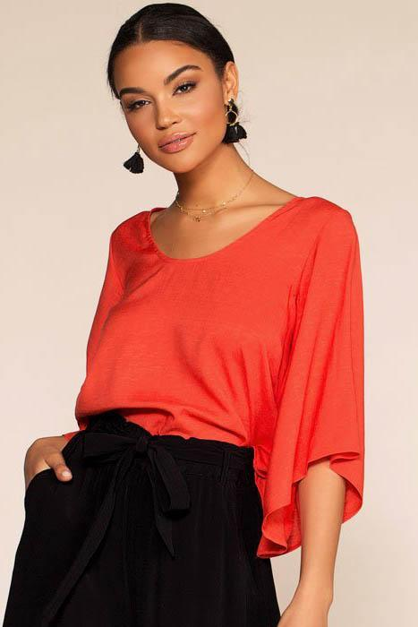 Kalahari Back Bow Top - Red | favlux