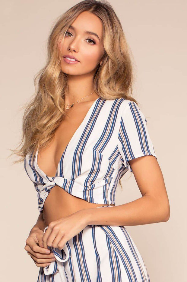 Landings Stripe Crop Top