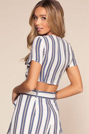 Tops - Landings Stripe Crop Top