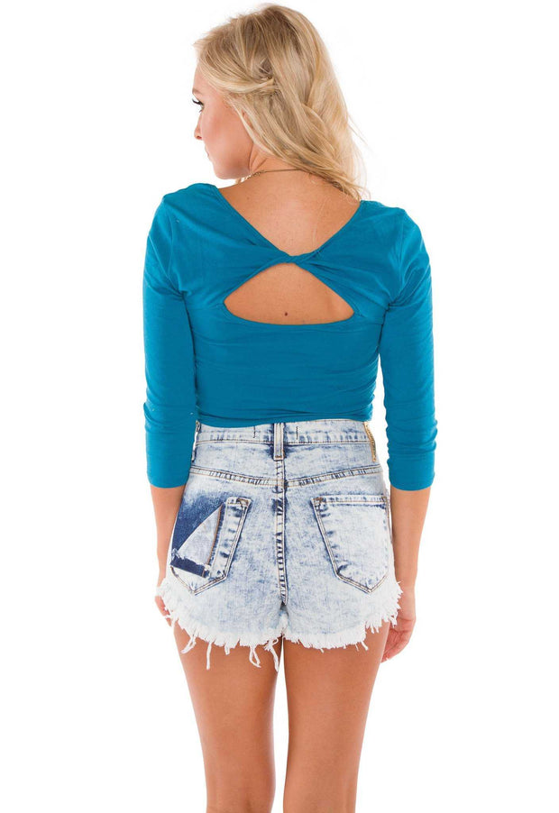 Tops - Lani Crop Top - Blue
