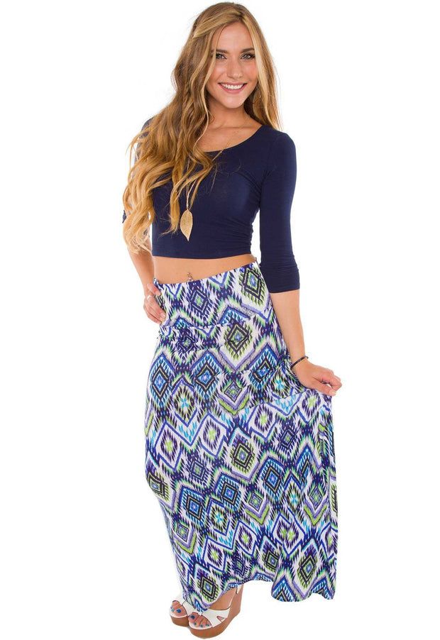 Tops - Lani Crop Top - Navy