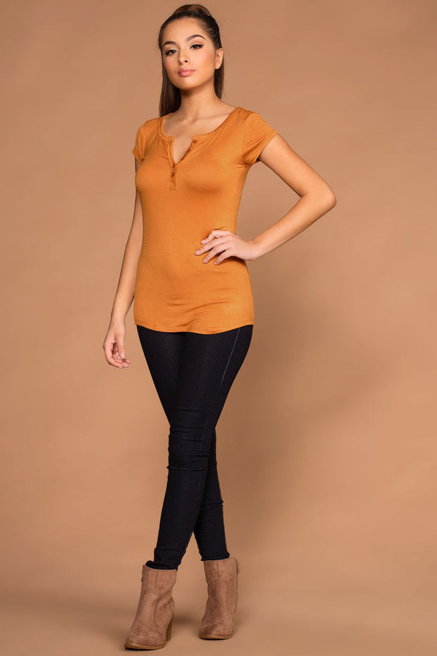 Tops - Lazy Days Top - Mustard