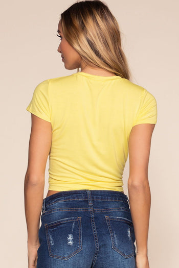 Tops - Levi Knot Tee - Yellow