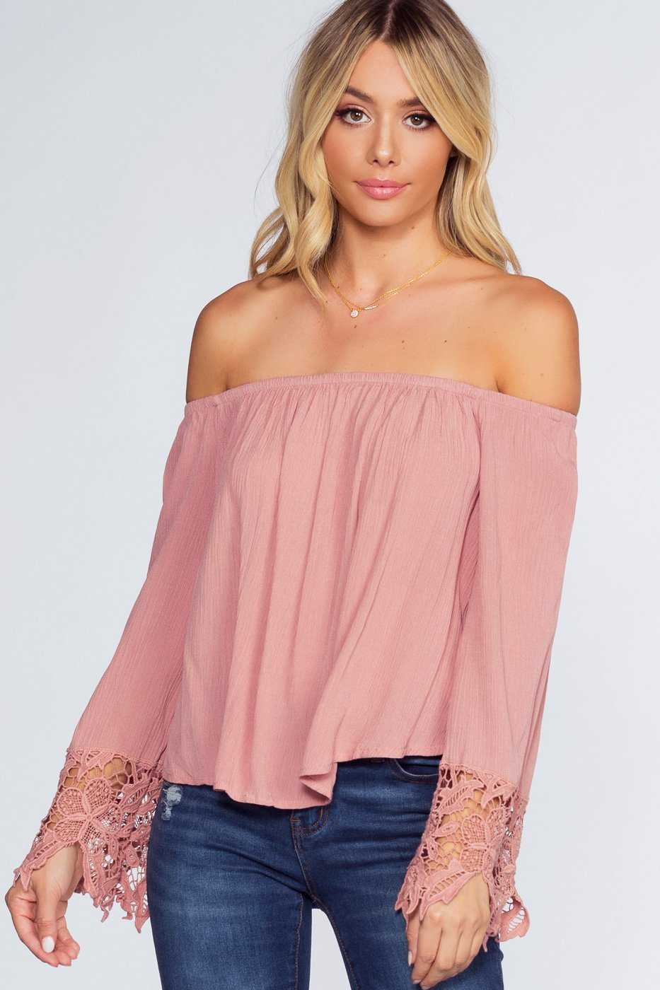 86372d1e7ffe8 Lexi Off The Shoulder Top - Mauve