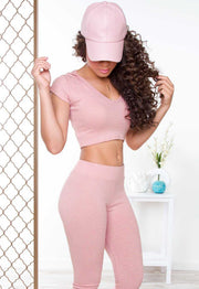 Tops - Like Fire Ribbed Crop Top - Blush