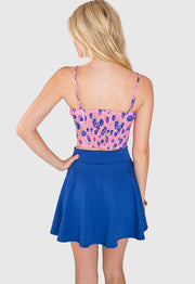 Tops - Lively Floral Bustier - Neon Pink