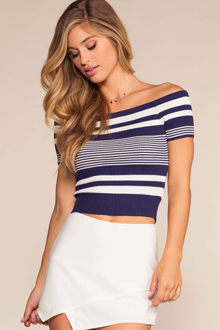 Victoria Crop Top - White