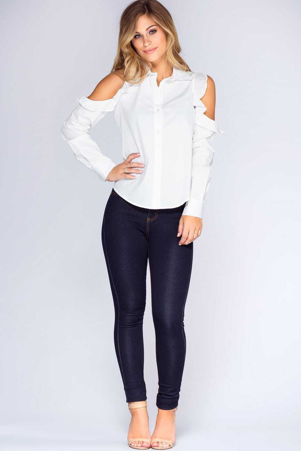 Tops - Long Story Short Top - White