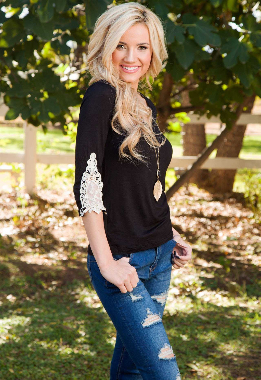 Tops - Lorette Top - Black