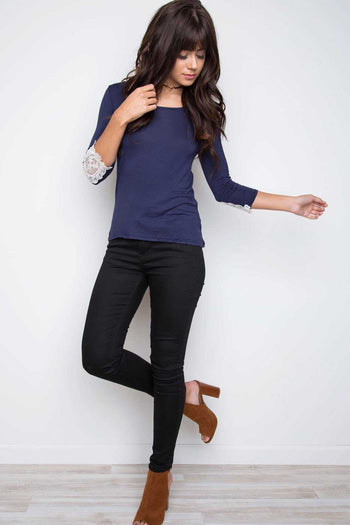 Tops - Lorette Top - Navy
