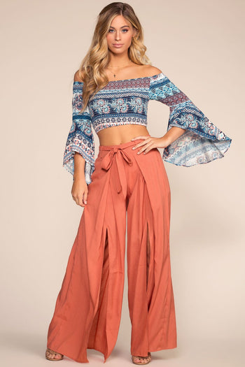 Shop Priceless | Floral | Off The Shoulder | Crop Top | Womens