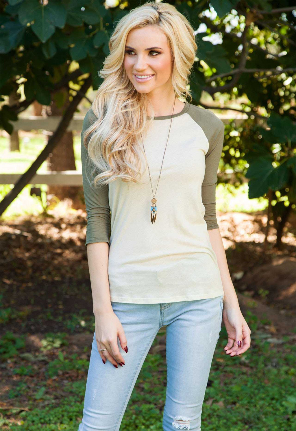 Tops - Lucinda Top - Olive