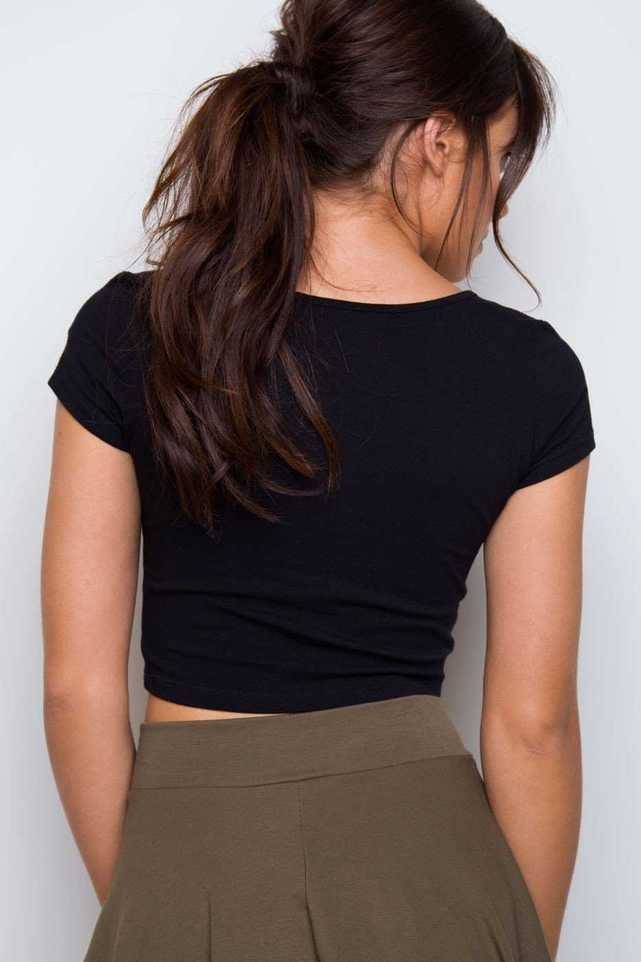 Tops - Lucy Basic Crop Top - Black