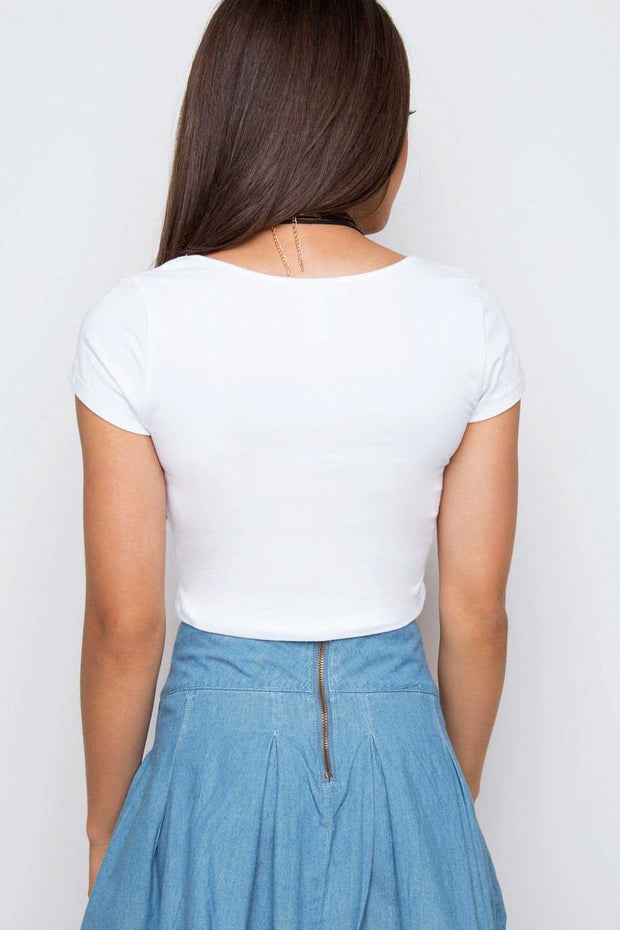 Tops - Lucy Basic Crop Top - White