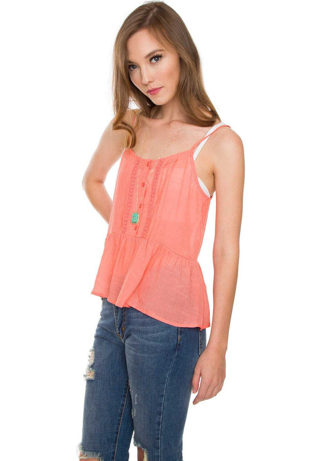 Tops - Maddie Top - Coral