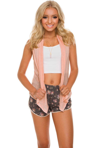 Pinetop Quilted Vest - Blush
