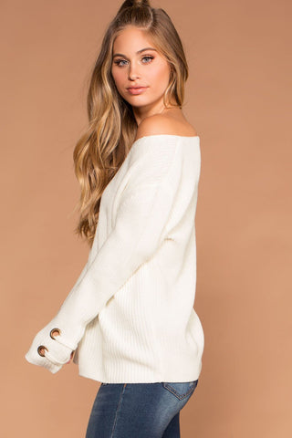 Sweet Ivy Off The Shoulder Ruched Crop Top - White