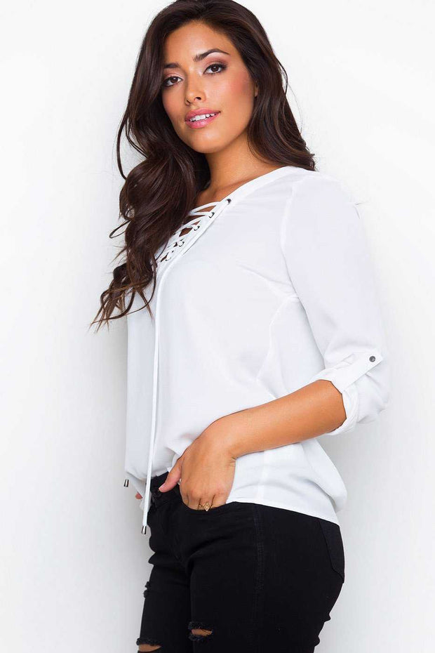 Tops - Newsworthy Top - Ivory
