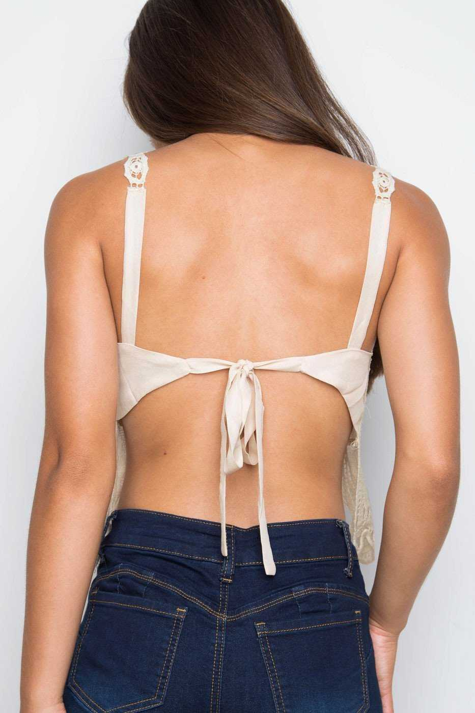 Tops - Odelia Lace Crop Top