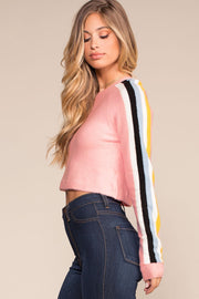 Tops - On A Roll Stripe Crop Top