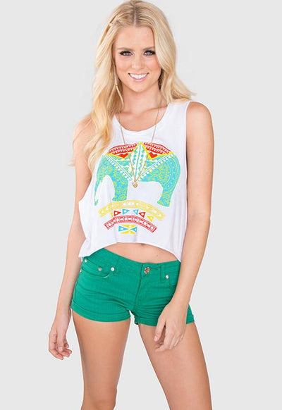 Tops - Outta My Head Elephant Crop Top
