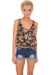 Tops - Panama Floral Crop Top
