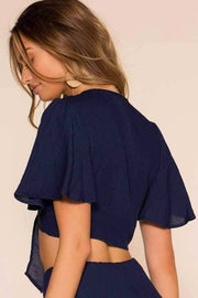 Perfectly Put Crop Top - Navy | Cotton Candy